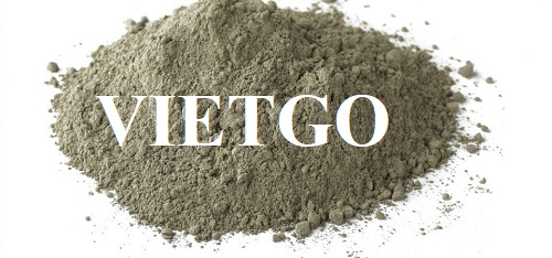 Opportunity to supply cement to a US trading company