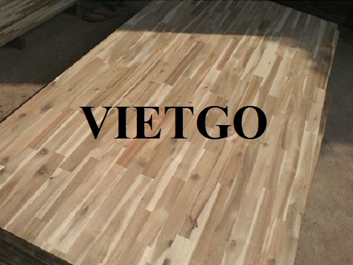 Opportunity to export acacia finger joint boards to the Indian market