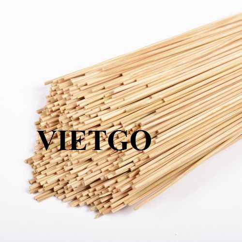 Opportunity to export 100 tons of bamboo sticks per month to the Indian market
