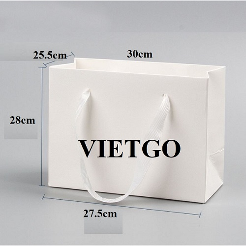 Opportunity to export 50,000 pieces of paper bags monthly to Chicago, US market
