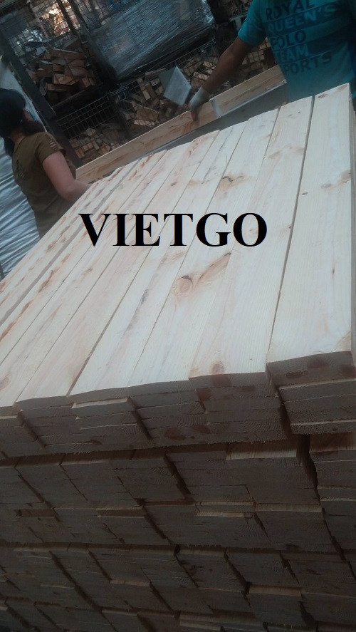 Opportunity to export 5 containers 40ft of pine timber to Taiwan, China market