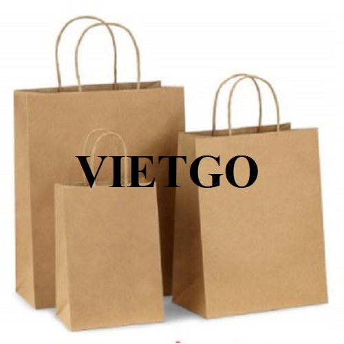 Opportunity to export 30 million paper bags monthly to the German market