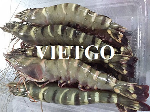 Opportunity to provide monthly black tiger shrimp for a seafood restaurant in Germany