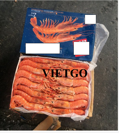 Opportunity to supply frozen black tiger shrimp monthly to the Chinese market