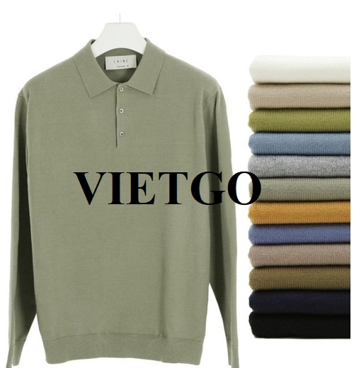 Opportunity to export men's sweater for a potential Korean customer