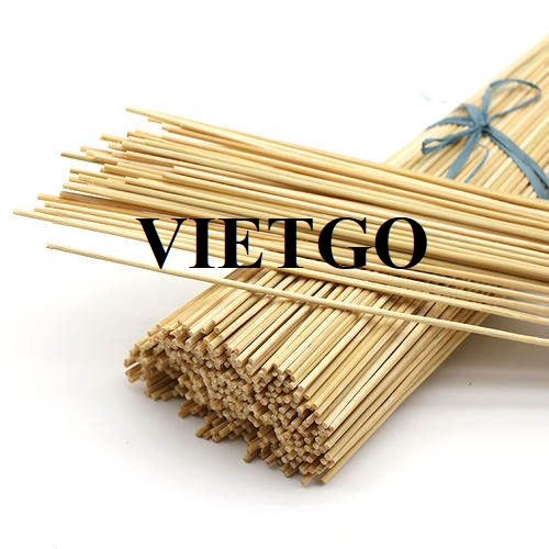 Opportunity to export bamboo sticks products to the Indian market