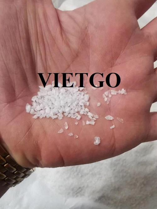 Cơ hội cung cấp sản phẩm cát silica cho một nhà máy sản xuất thủy tinh tại Trung Quốc