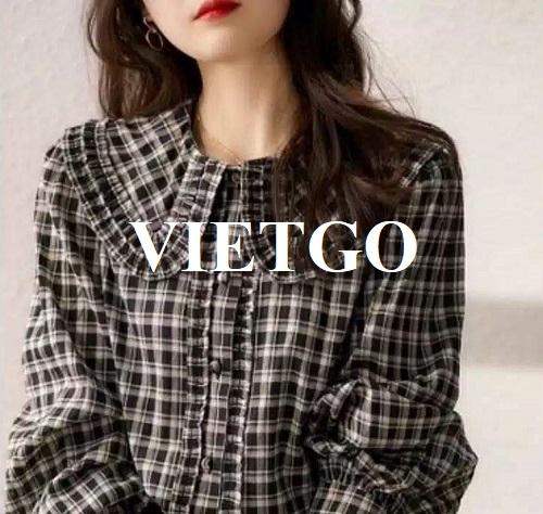 (Gấp) Cơ hội xuất khẩu mặt hàng áo sơ mi dành cho nữ sang thị trường Anh