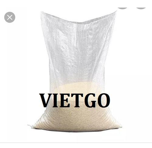 Cơ hội giao thương- Cơ hội xuất khẩu túi PP dệt trong suốt đựng gạo